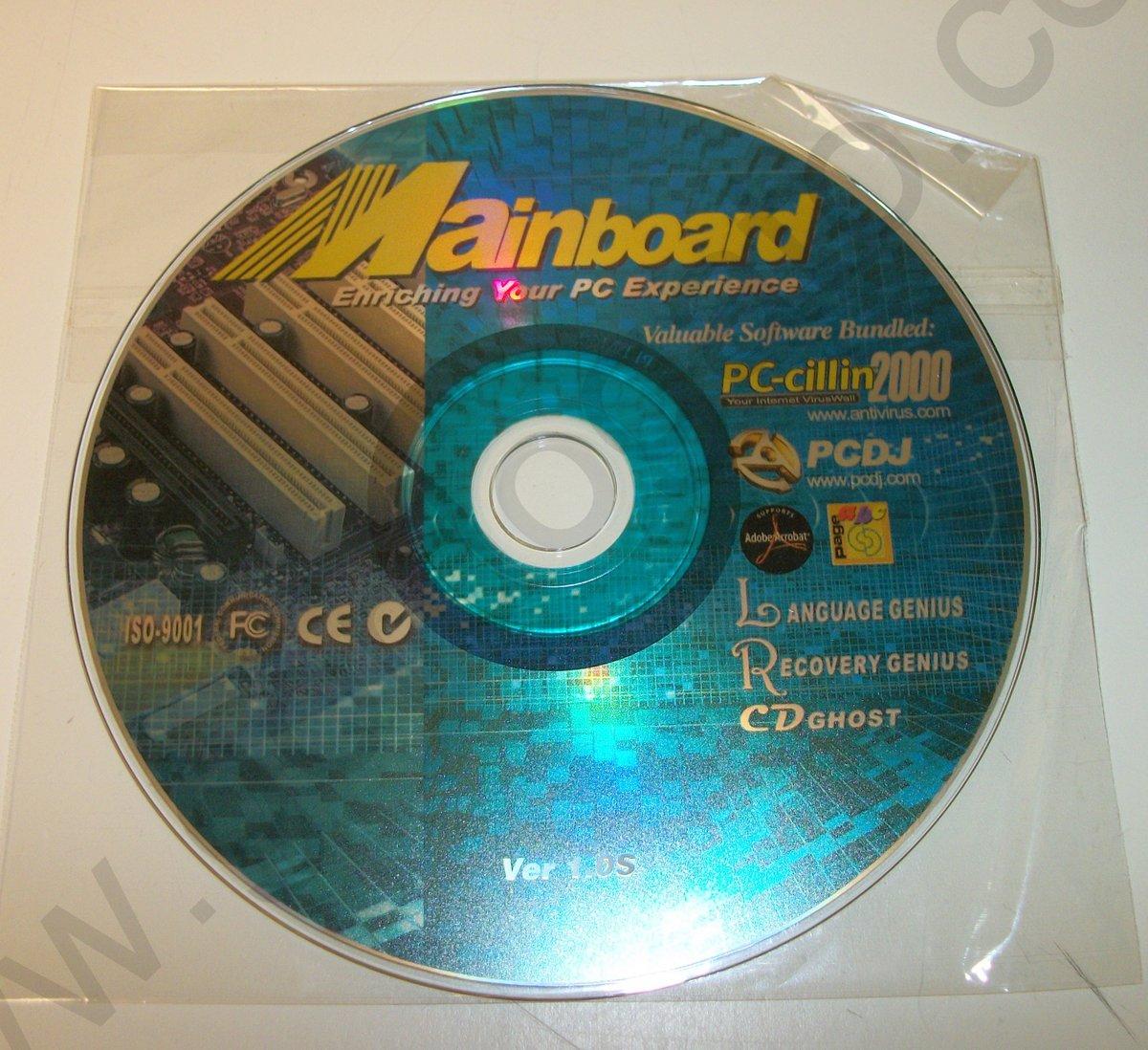 Iso image of original driver cd disc for ecs k7s5a motherboard v1.